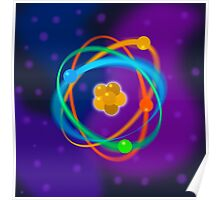 Vibrant Dynamic Atomic Structure Poster