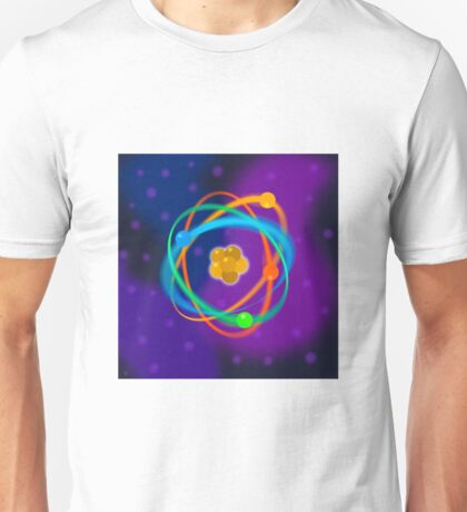 Vibrant Dynamic Atomic Structure Unisex T-Shirt