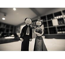 Wedding figurines Photographic Print