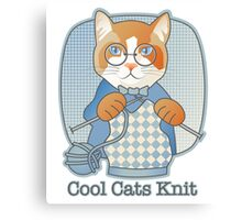 Cool Cats Knit Canvas Print