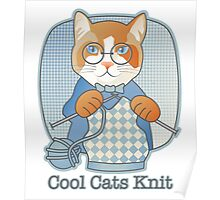 Cool Cats Knit Poster