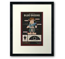 The Anatomy of Bilbo Baggins Framed Print