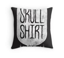Skull Shirt Throw Pillow