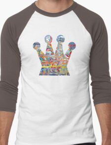 Graffiti crown Men's Baseball ¾ T-Shirt