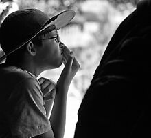 kid at zoo by geof