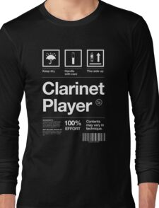 """""""Clarinet Player"""" Label Long Sleeve T-Shirt"""