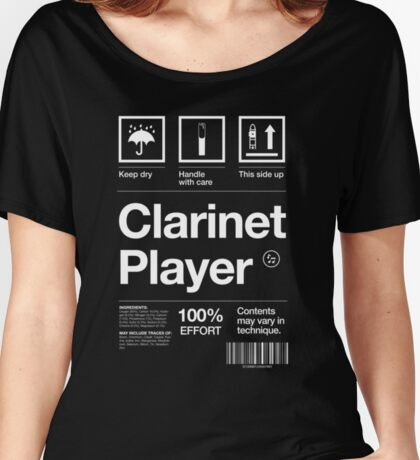 """""""Clarinet Player"""" Label Women's Relaxed Fit T-Shirt"""