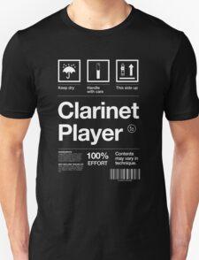 """Clarinet Player"" Label T-Shirt"