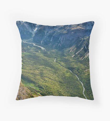 Valley near Milford Sound Throw Pillow