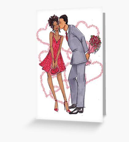 Valentine Kisses Greeting Card
