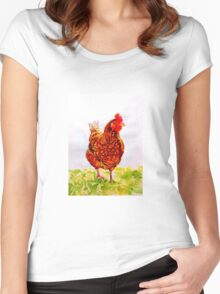 Hen Women's Fitted Scoop T-Shirt