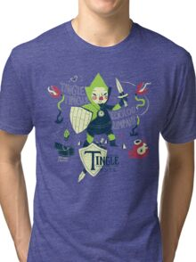 the legend of tingle: the magic words of time Tri-blend T-Shirt