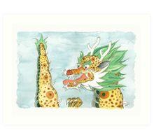 Korean Dragon I Art Print