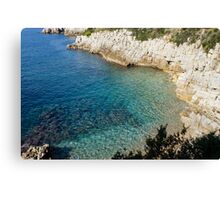 Cote D'Azur - the Azure Coast - at Saint-Jean-Cap-Ferrat, France Canvas Print