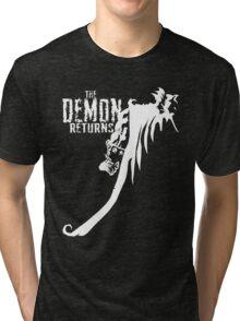 The Demon Returns (White) Tri-blend T-Shirt