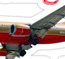 Southwest Airlines Boeing 737-500 w text Sticker