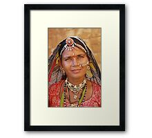 Rajasthani Beauty Framed Print