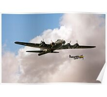 Flying Fortress and Mustang Poster
