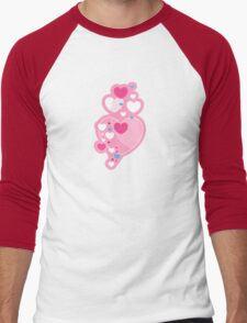 Valentine Hearts & Stripes Men's Baseball ¾ T-Shirt