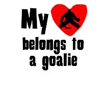 My Heart Belongs To A Goalie Photographic Print