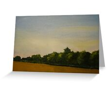 Corn Field with Trees  Greeting Card