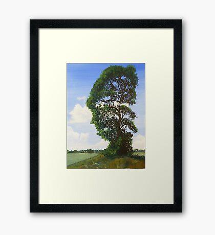 Landscape with Tree Framed Print