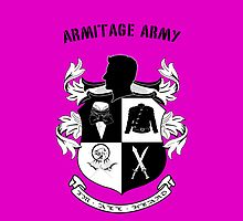 Armitage Army CoA  pink Iphone case by CircusDoll