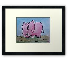 Told you don't think about a pink elephant Framed Print
