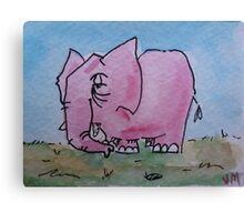 Told you don't think about a pink elephant Canvas Print