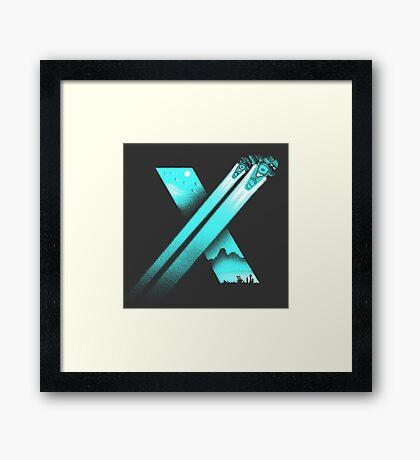 XENO CROSS Framed Print