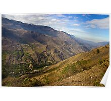 Andes Mountains Vista in Ecuador Poster