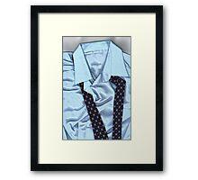 Saturday Morning - Men's Fashion Art By Sharon Cummings  Framed Print