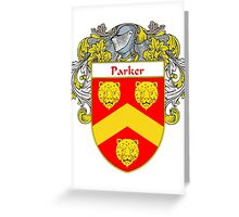 Parker Coat of Arms / Parker Family Crest Greeting Card