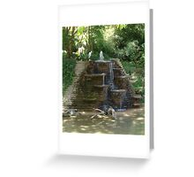 """Fountain"" by Carter L. Shepard Greeting Card"