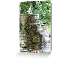"""""""Fountain"""" by Carter L. Shepard Greeting Card"""