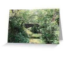"""Bridge"" by Carter L. Shepard Greeting Card"