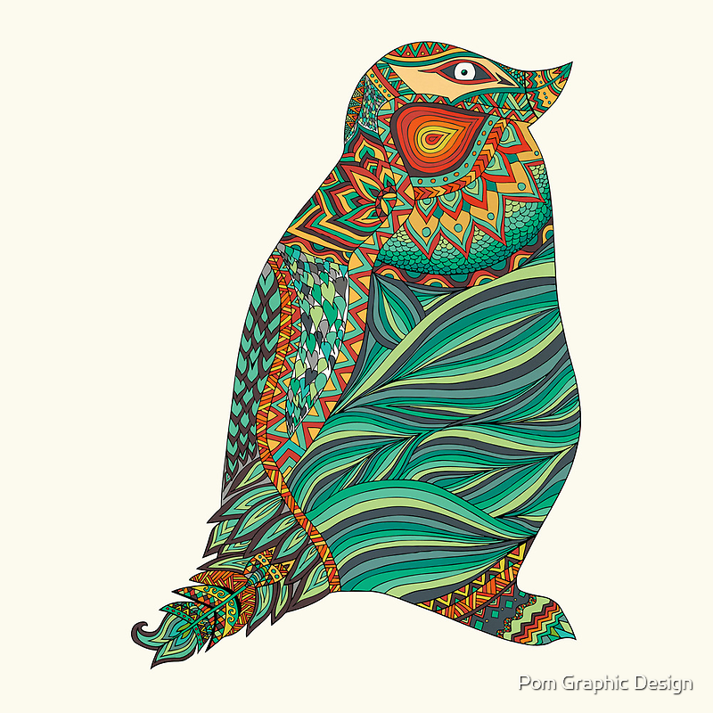 Ethnic Penguin by Pom Graphic Design