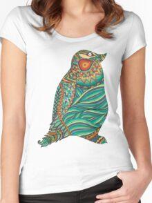 Ethnic Penguin Women's Fitted Scoop T-Shirt