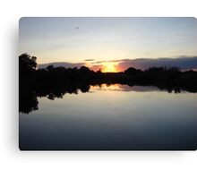 """Idaho Sunset"" by Carter L. Shepard Canvas Print"