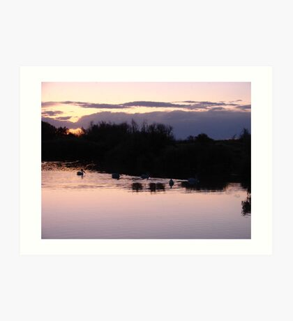 """Lake Sunset"" by Carter L. Shepard Art Print"