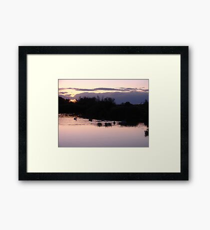 """Lake Sunset"" by Carter L. Shepard Framed Print"