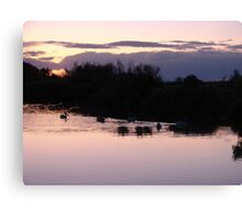 """Lake Sunset"" by Carter L. Shepard Canvas Print"