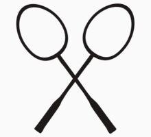 Crossed badminton rackets Baby Tee