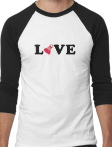 Badminton love Men's Baseball ¾ T-Shirt