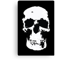 Sherlock Skull Wall Hanging On Black Canvas Print