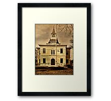 Noah Webster Taught Here Framed Print