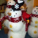 Snowmen by WildestArt