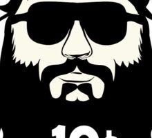 Beard Rides 10 cents Sticker