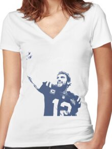 A (Luck)y Wildcard Victory Women's Fitted V-Neck T-Shirt