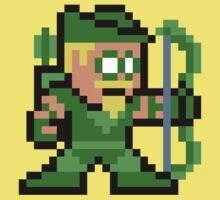 8-bit Green Arrow Baby Tee